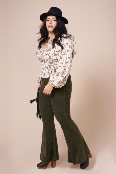 WILLOW Ivory Long Sleeve Top