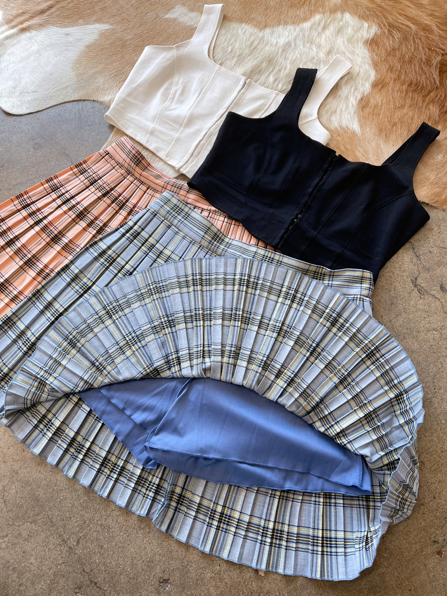 CHER Blue Plaid Skirt