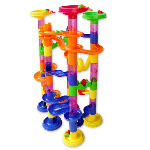 678 - 7 Deluxe Marble Race Game Marble Run Play Set 105pcs Developing