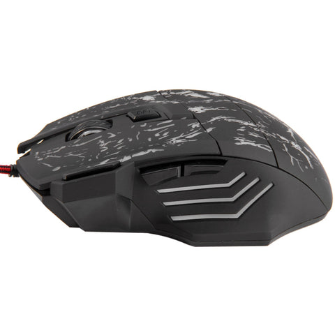 A874 7 Buttons USB Wired Gaming Mouse 1000 / 1600 / 2400 / 3200DPI with LED