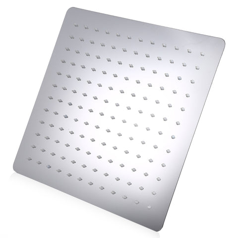 12 inch High Pressure Ultra Thin 201 Stainless Steel Square Rain Shower Head