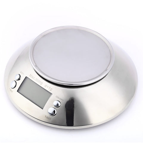 5kg 1g Stainless Digital Electronic Kitchen Food Scale with Alarm Timer Temperature Sensor