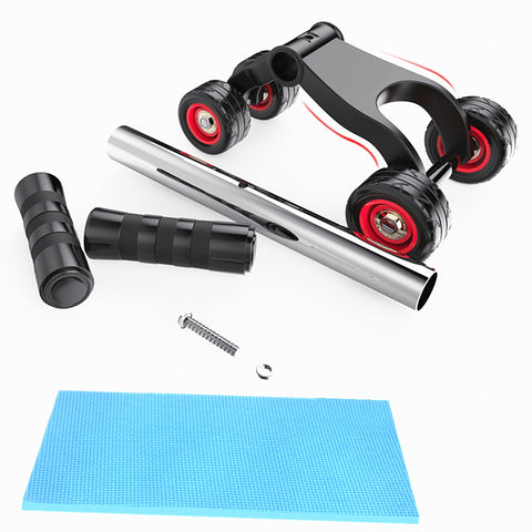 4-wheel Professional Exercise AB Roller Abdomen Round Fitness