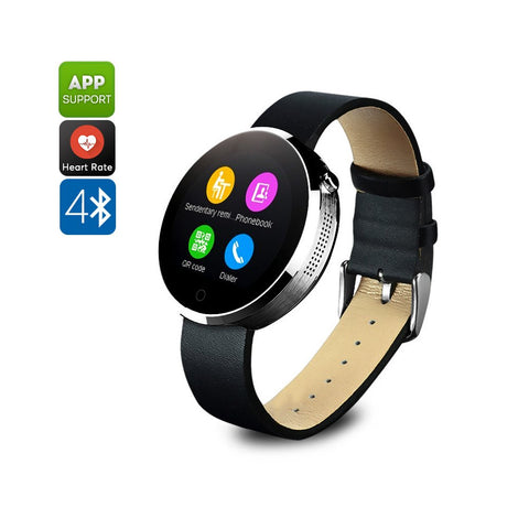 DM360 Smart Watch - Bluetooth 4.0, Calls, Messages, Pedometer, Sleep Monitor, Heart Rate Monitor, App Support, 320mAh (Silver)