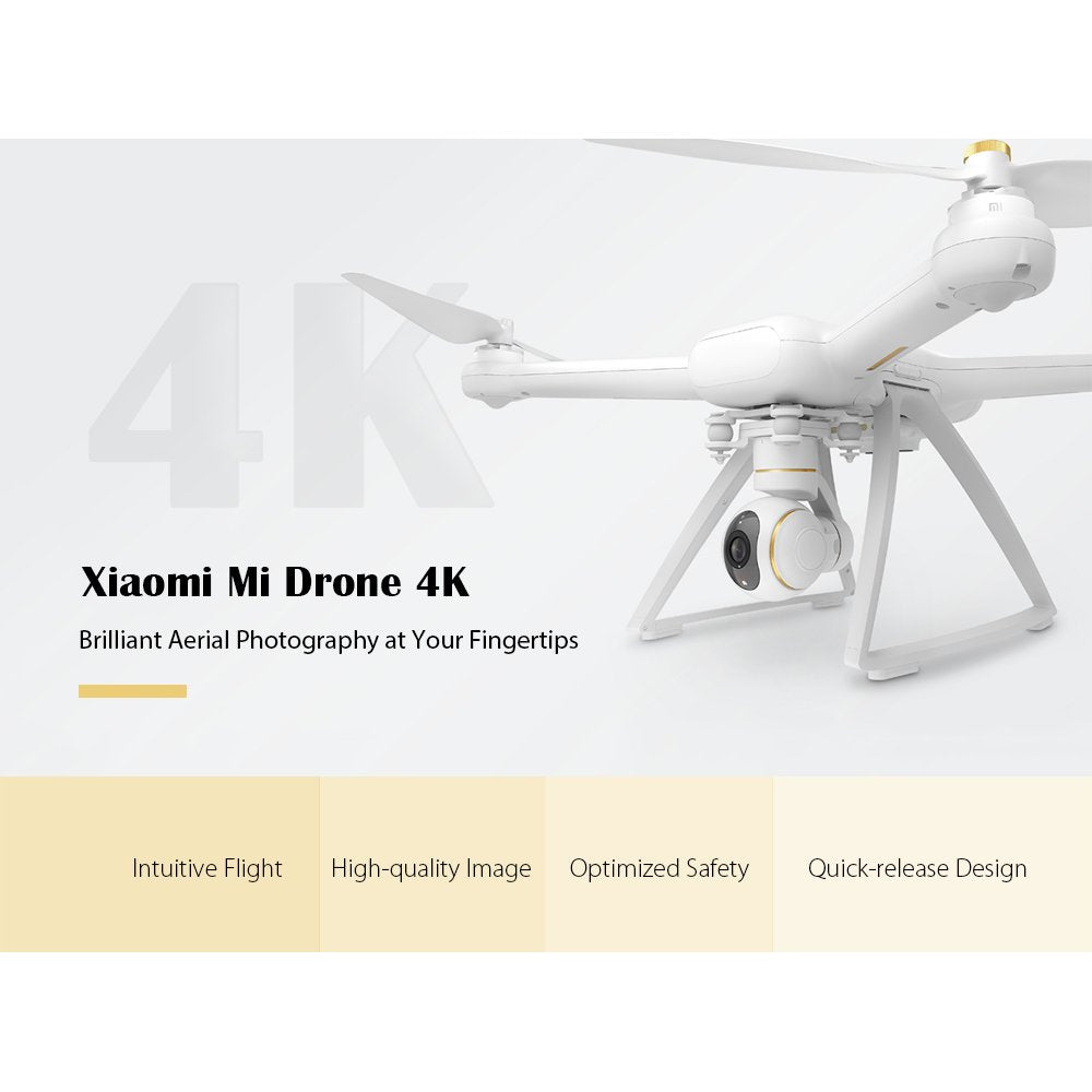 Original Xiaomi Mi Drone English App WIFI FPV 4K Camera RC Quadcopter Drone 3-Axis GimbalHelicopter HD Remote Video Recording