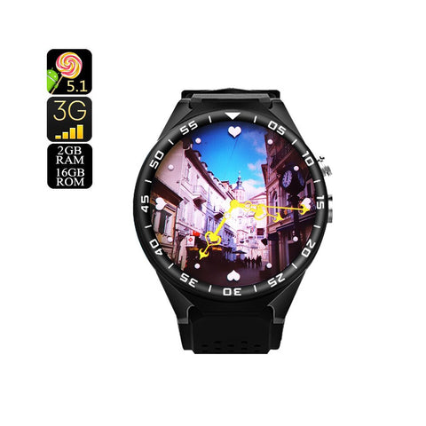 ZGPAX S99C Android Watch - 2GB + 16GB, Bluetooth 4.0, WiFi, 3G, Pedometer, 5MP Camera, Quad-Core CPU
