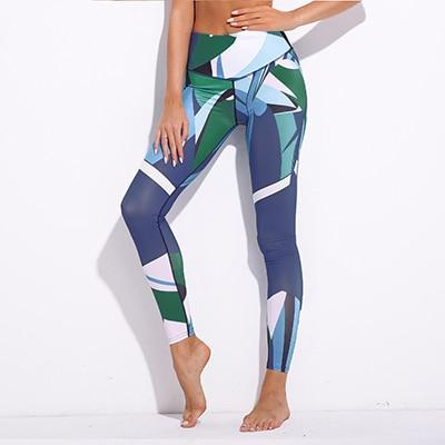 Athleisure Wear - Blue Doodle Digital Print Leggings