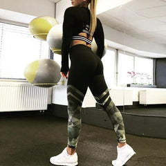 Athleisure Wear - Harajuku Push Up Fitness Legging Camouflage
