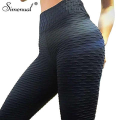 Athleisure Wear - Simenual 2018 Fashion Athleisure Ruched Leggings For Women High Waist Jeggings Sportswear