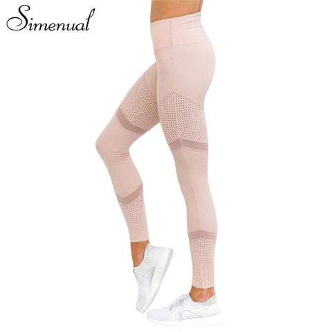 Athleisure Wear - Simenual Patchwork Mesh Leggings
