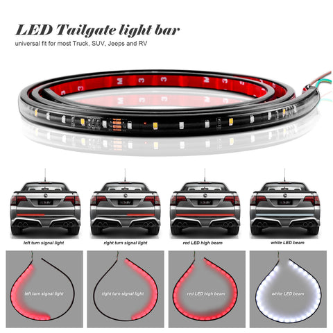 "60"" Flexible Car Truck 90-LED Tailgate Light Bar"