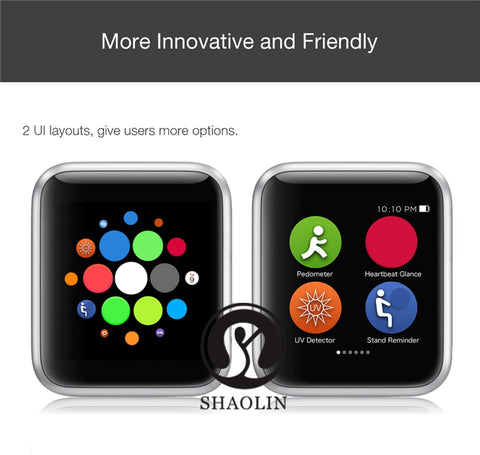 Smart Bluetooth Wristwatch Apple iphone iOS and Android