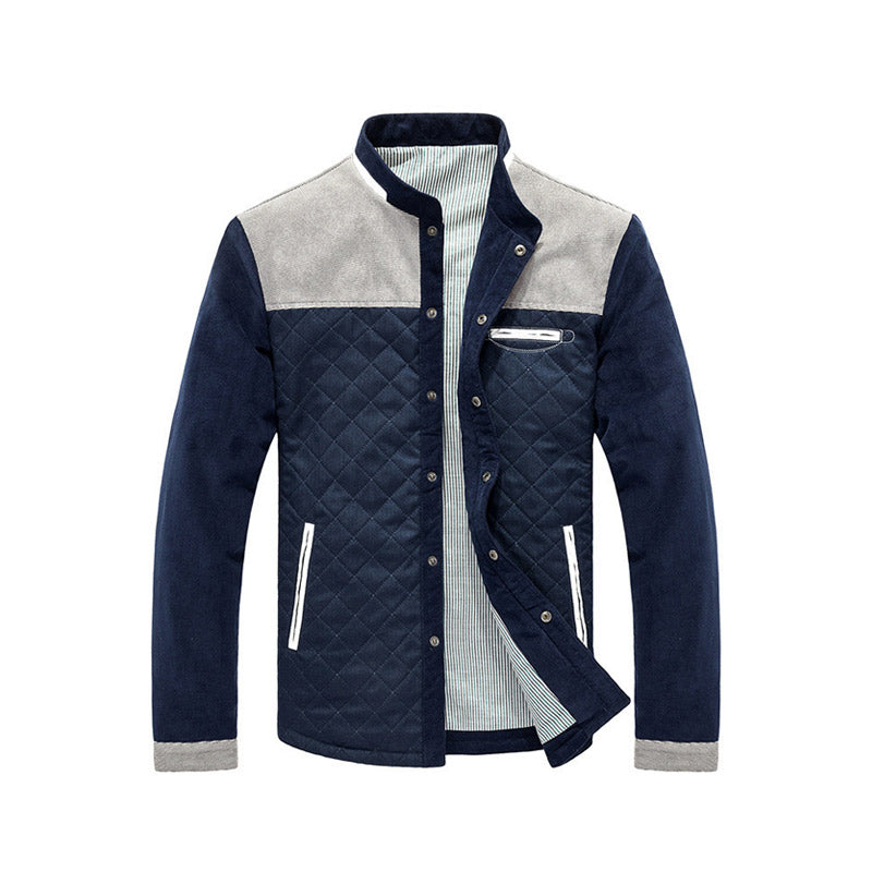 Men Casual Outwear Jacket Patchwork Coat