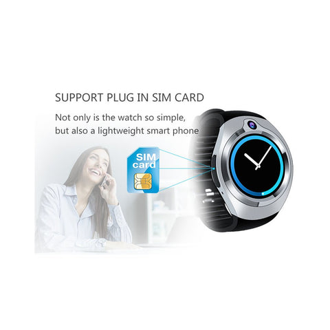 Android Smart Watch Phone- 5M Camera, Quad Core, GPS, Bluetooth, WiFi, 3G, 1.3 Inch Screen (Silver)