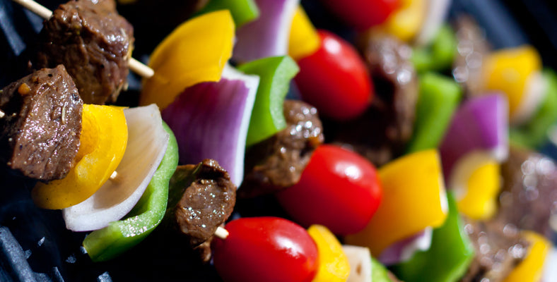 Bison Kabobs with Stew Meat