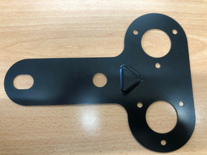 Double socket mounting plate