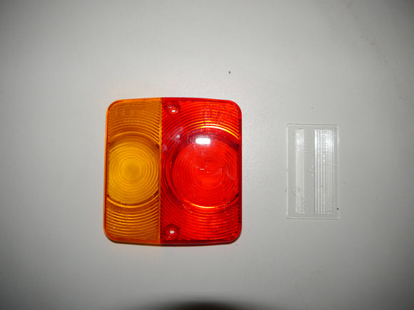 Replacement Lens, Red and Amber
