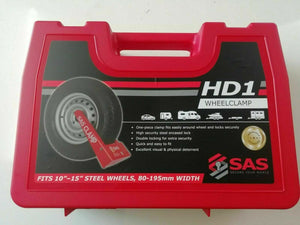 "HD1 SAS WHEEL CLAMP TO FIT 80 - 195MM WIDTH 10"", 12"", 13"", 14"", 15"" WHEELS"