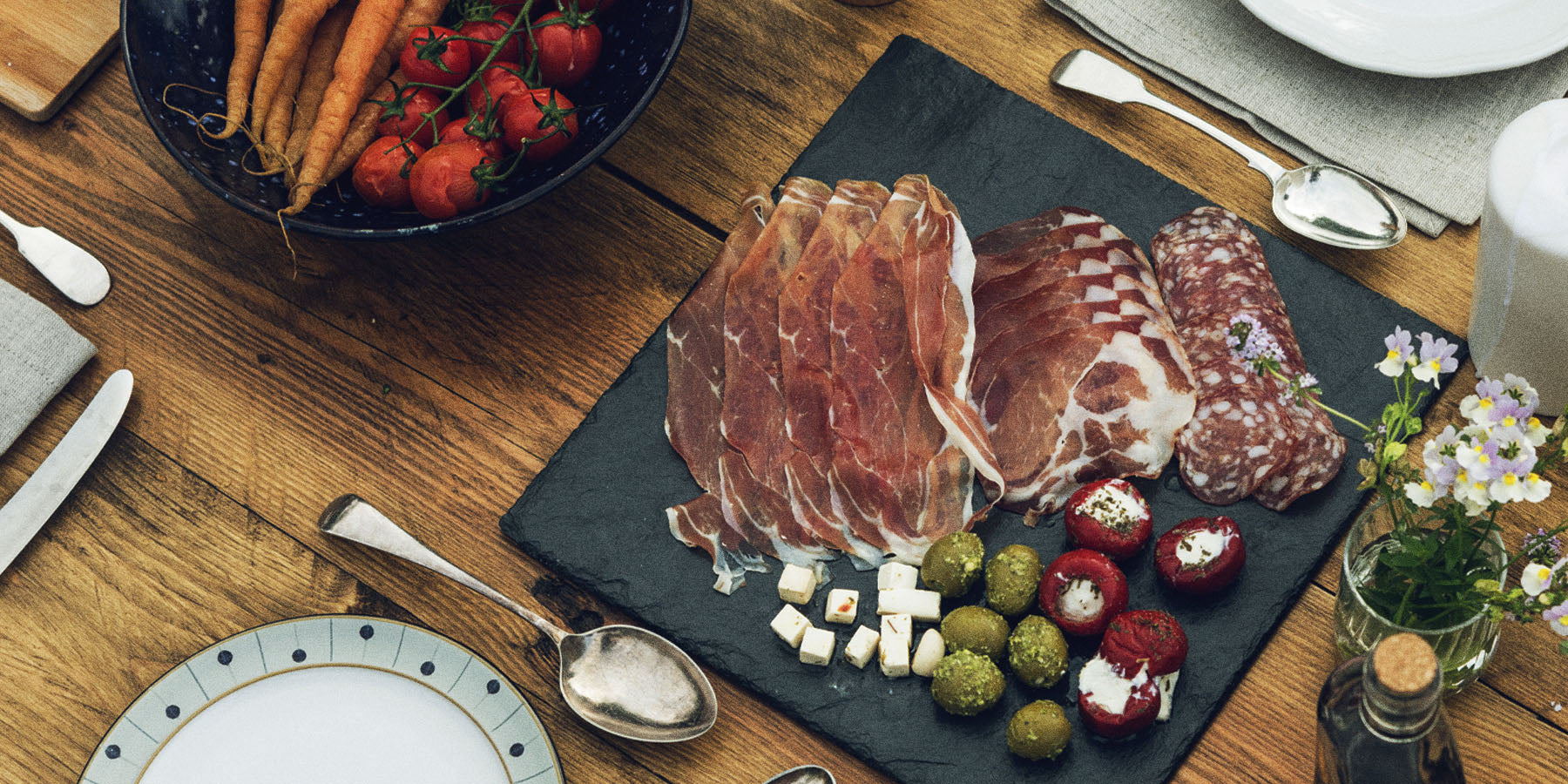 Cold Cuts on a wooden board