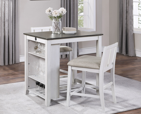 Daye Collection 3pc Counter Height Table