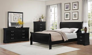 Mayville Collection 4pc Queen Bedroom Set Black