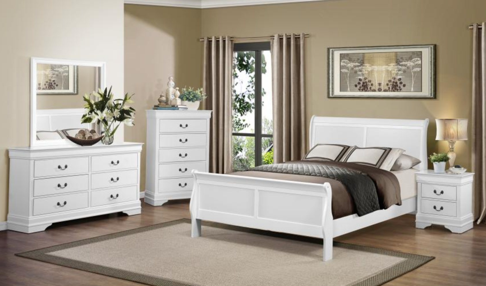 Mayville Collection 4pc Queen Bedroom Set White