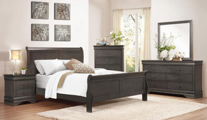 Mayville Collection 4pc King Bedroom Set Gray