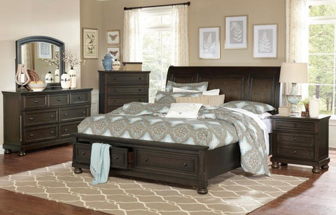 Begonia Collection 4pc King Bedroom Set
