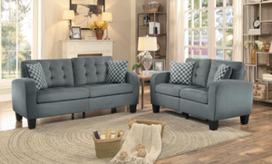 Sinclair Collection Sofa and Loveseat Gray