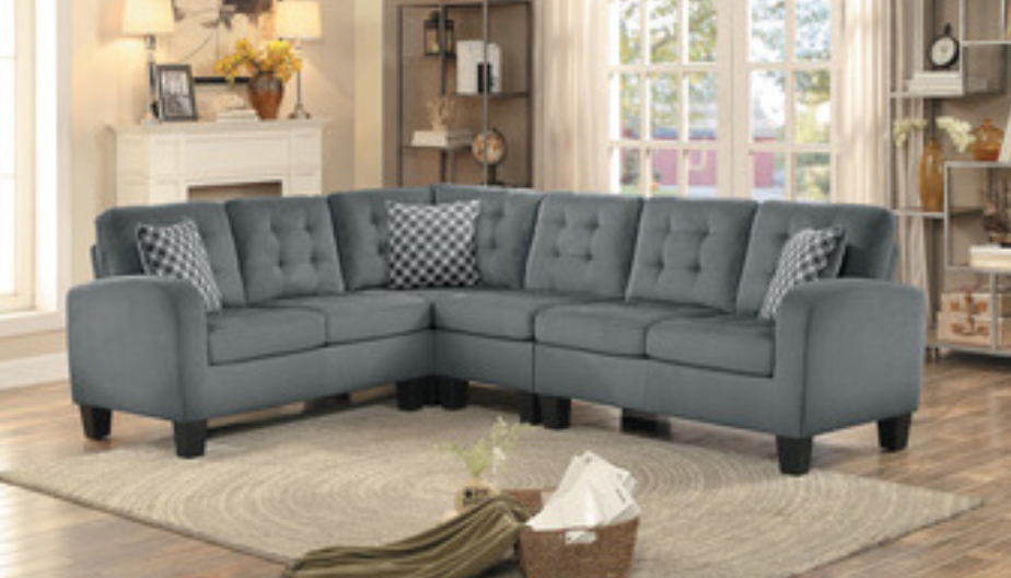 Sinclair Collection Sectional Gray