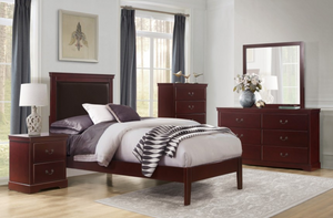 Seabright Collection 4pc Twin Bedroom Set - Brown