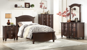Meghan Collection 4pc Twin Bedroom Set