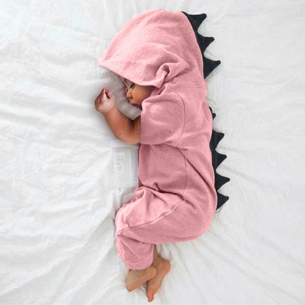 SUPER-CUTE Hooded Dinosaur Jumpsuit / Romper / Pajamas / Onesie