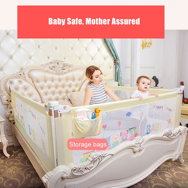 BABY GATE Bed Fence. A baby fence is an ESSENTIAL aspect of Baby Proofing for Child Safety