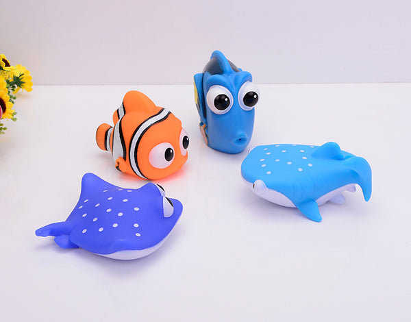 NEMO Bath Toys! Squirting Bath Marine Animals Make Bath-time FUN