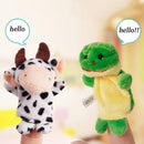 10 x Funny Plush Finger Puppets - High-Quality Cartoon Zoo Animal Toys