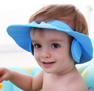 Waterproof Hat & Baby Bath Cap to make bathing FUN