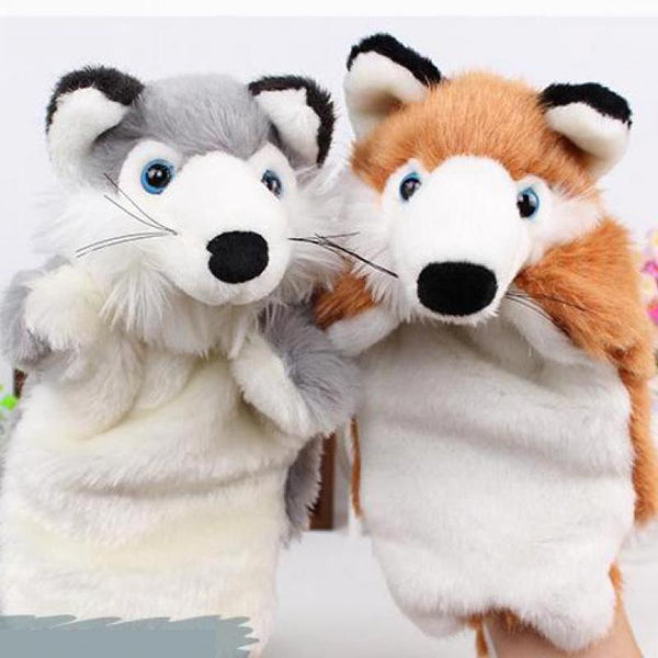 Adorable Plush Hand Puppets - High Quality Cartoon Zoo Animal Toys
