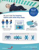 Ergonomic Infant Bed - Safety Mattress for Infants - Baby Sleep Support