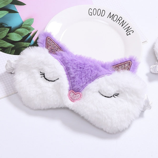 Plush Baby Eye Mask - Silk Sleep Mask & Travel Mask