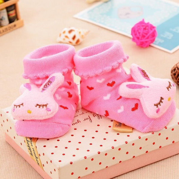 Adorable Baby Cartoon Socks - Anti Slip