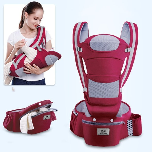 Kangaroo Baby Wrap, Infant Baby Hipseat Carrier, Ergonomic Baby Carrier, baby carrier, multiple style baby carrier, ALL-IN-1 Carrier