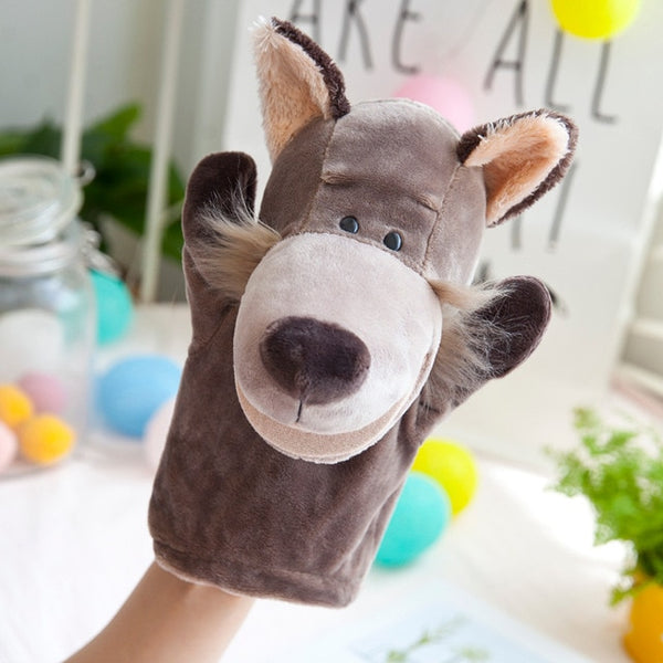 Cute Plush Hand Puppets - High Quality Cartoon Zoo Animal Toys