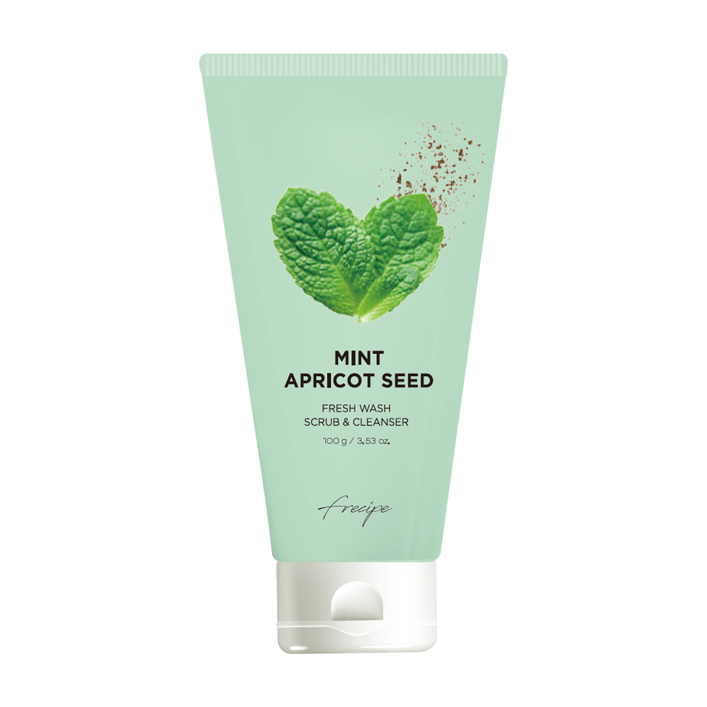 Mint Apricot Seed Fresh Multi-action Scrub & Cleanser | B.MINE