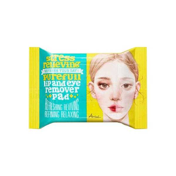 Stress Relieving Purefull Lip & Eye Remover Pad (30 Sheets)