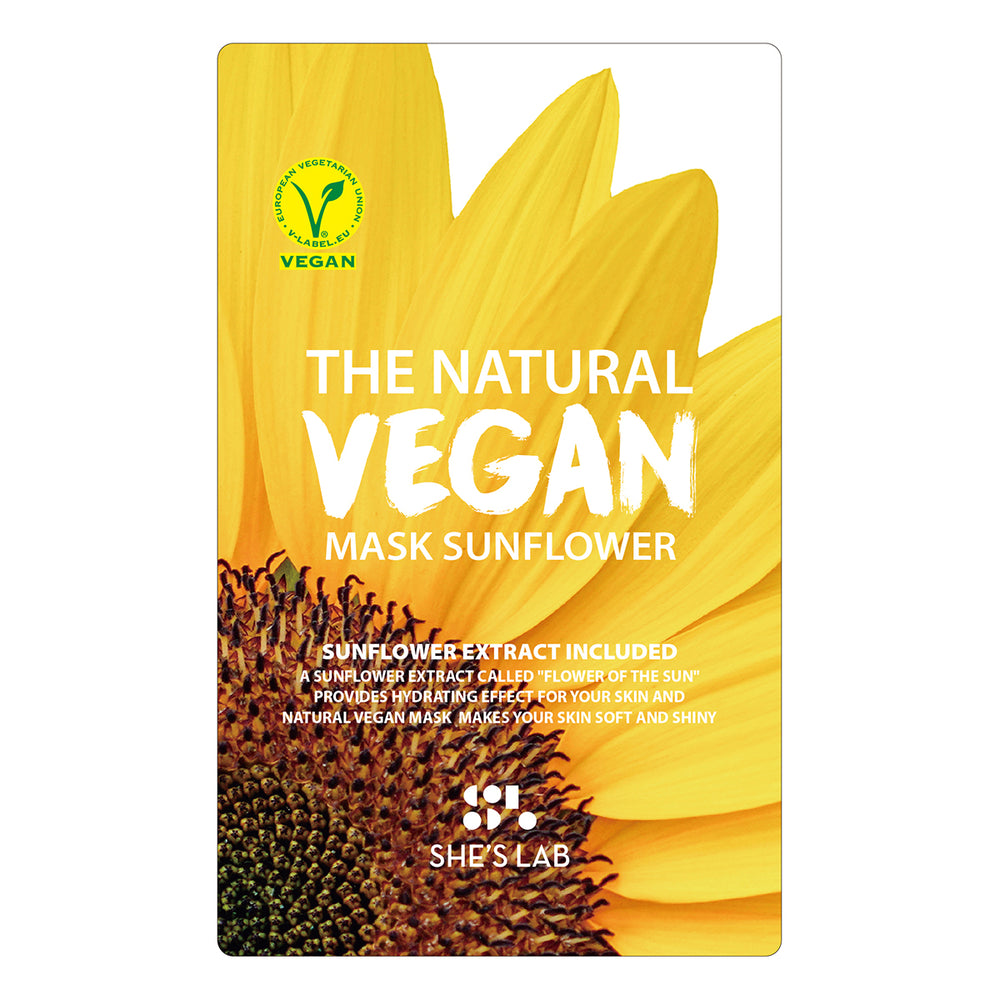 She's Lab The Natural Vegan Mask Sunflower