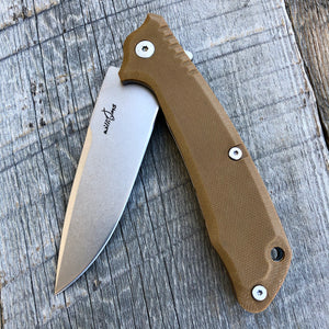 Prototype Flip Folder - Matte Finish - Brown G-10