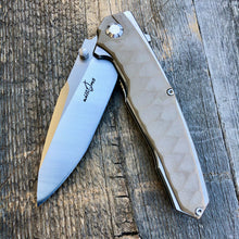 Load image into Gallery viewer, Prototype Flip Folder - Matte Finish - Tan G-10