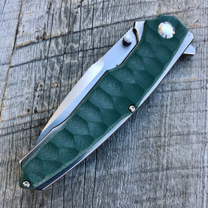 Prototype Flip Folder - Matte Finish - Green G-10