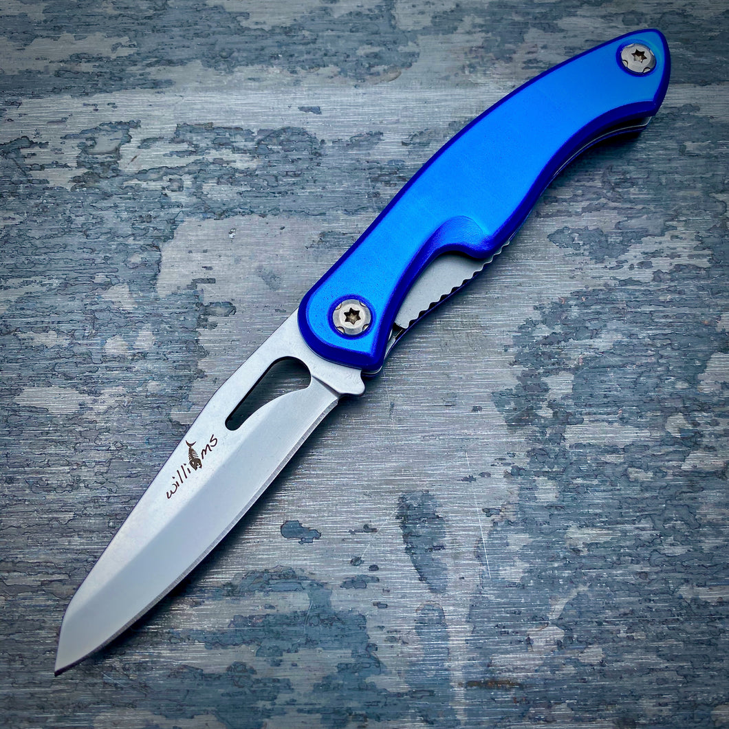 Prototype Folder - Matte Finish - Blue Anodized Aluminum Handle